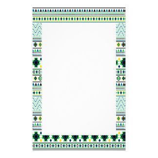 För mönstervit för Aztec stil stam- grönt för Brevpapper