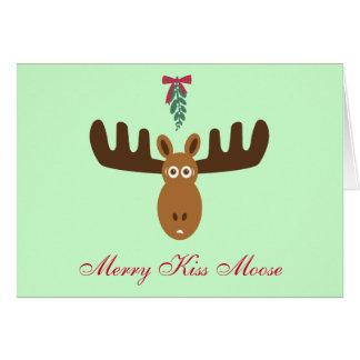 För Moose_Happy för älgHead_Merry kyss år Gnu! Hälsningskort