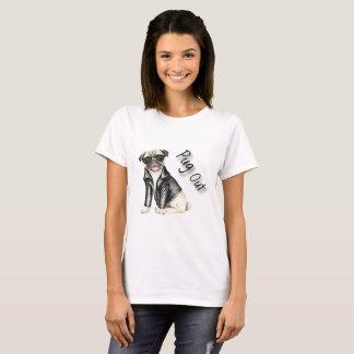 För mops T-tröja ut Tee Shirt
