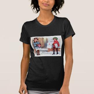 För morgonhärlighet för vintage Retro kort för T-shirt