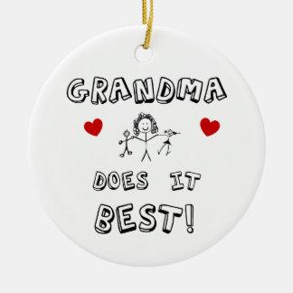 För mormor eller Grandchiild Julgransprydnad Keramik