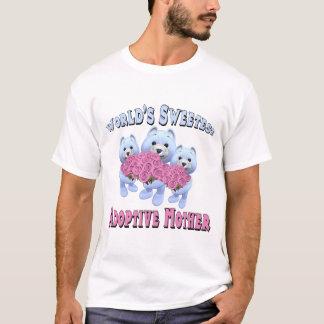 För mormors dag för världar mest sweetest adoptiv- t shirt