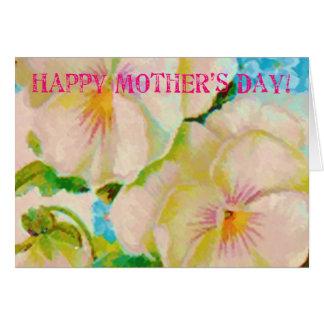 För mors dagfrimärke för vintage blom- kort