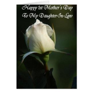 För mors daghälsning för lycklig första kort