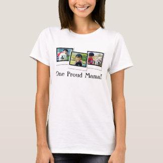 För mors dagpersonlig för tre foto T-tröja T Shirt