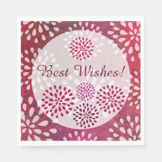 För morsablomma för hallon rosa möhippa för pappersservett