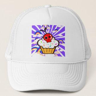 För muffinregnbåge för skalle körsbärsröd himmel keps
