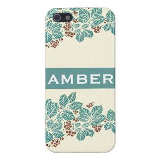 För murgrönabär för personlig känd botanisk kricka iPhone 5 fodral