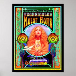För musikbandaffisch för Technicolor motorisk hem- Poster