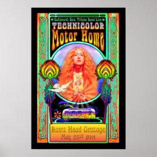 För musikbandsten för Technicolor motorisk hem- Poster