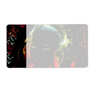 För musikhörlurar för flickan färgar lyssnande neo fraktsedel