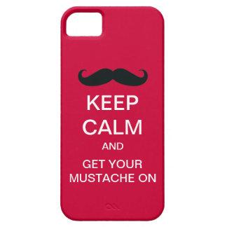 För mustaschiPhone 5 för behålla lugnat roligt iPhone 5 Skal