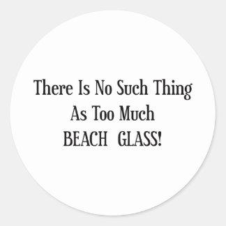 För mycket strandexponeringsglas runt klistermärke