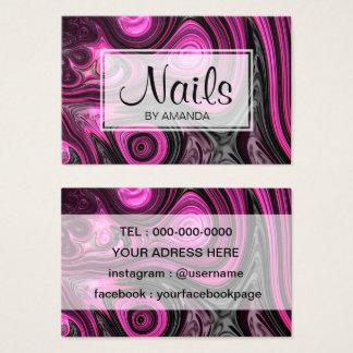 För NailArt för Pedicure för nagelnagelkonstnär Visitkort