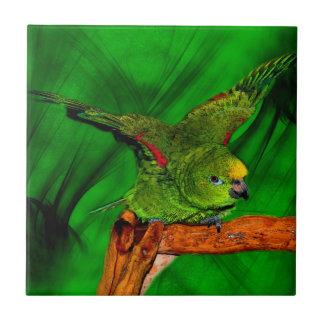 För Naped för fånig gult djur för papegoja amason Kakelplatta
