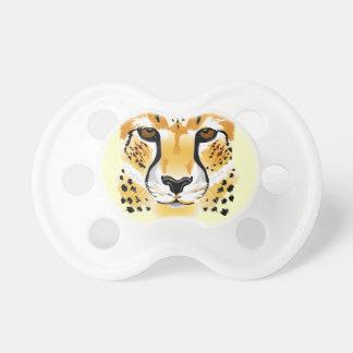 för närbildillustration för cheetah head bebis napp