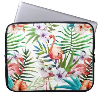 För naturträdgård för flamboyant Flamingo tropiskt Laptop Fodral