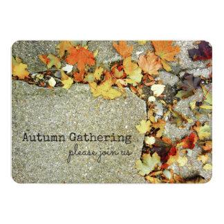 För nedgångskörd för höst löv färgrikt löv 12,7 x 17,8 cm inbjudningskort