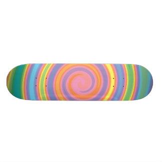 För neonfärgpinwheel för design skateboard flickak