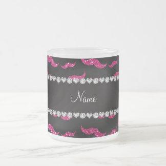 För neonshock rosa för personlig kända mustascher  kaffe koppar
