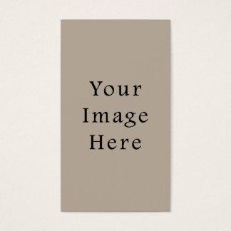 För neutral tom mall färgtrend för Taupe Visitkort