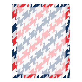 För New England för röd vit marinblåa färger Reklamblad