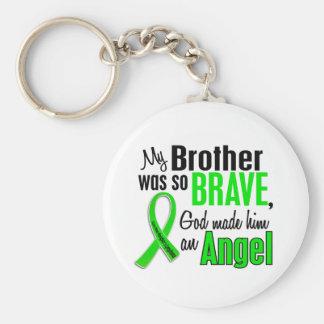 För Non-Hodgkins för ängel 1 broder Rund Nyckelring