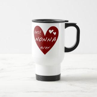 För Nonna för röd hjärta bäst gåvor någonsin Resemugg