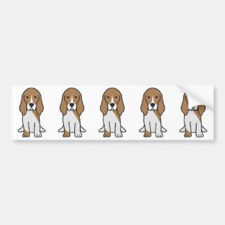 För Normand för Basset Artesian tecknad hund Bildekal