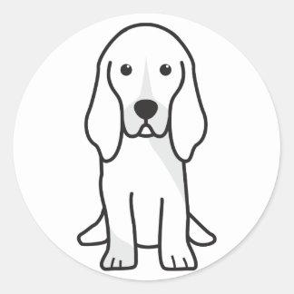 För Normand för Basset Artesian tecknad hund Runt Klistermärke
