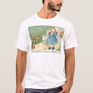 För O för flickakattjack pumpa lykta T-shirts