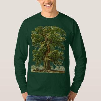 För Oakträd för vintage gammal trädgårdarbeteaste T Shirts