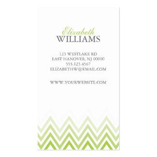 För Ombre för elegant gröna randar sparre Set Av Standard Visitkort
