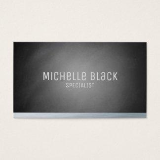 För Ombre för elegant svart visitkortar svart Visitkort