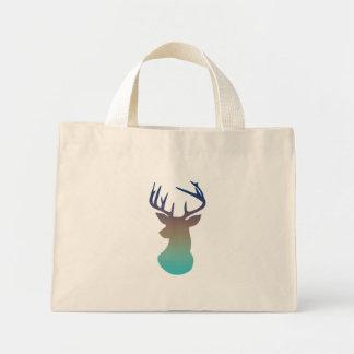 För Ombre för hjort Head moderna blått för marin & Mini Tygkasse
