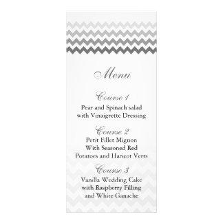 För Ombre för modsparregrått kort för meny bröllop
