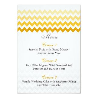 För Ombre för modsparregult kort för meny bröllop 12,7 X 17,8 Cm Inbjudningskort