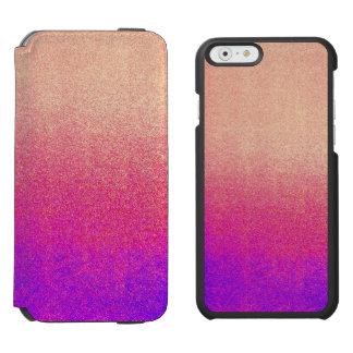 För Ombre för rosa neon för persika purpurfärgad