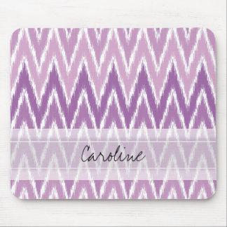 För Ombre Ikat för Monogram purpurfärgat mönster Musmatta