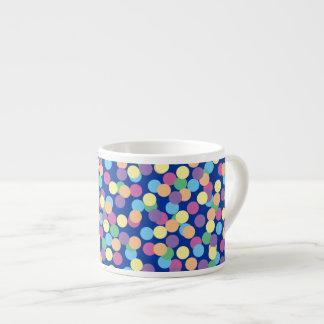 För orangegrönt för rosor gul polka dots för blått espressomugg