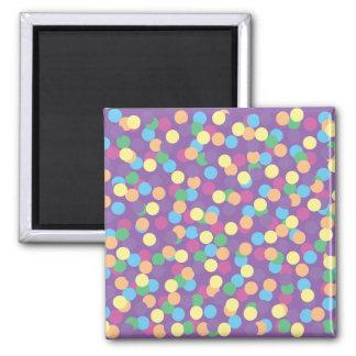 För orangegrönt för rosor gul polka dots för blått magnet