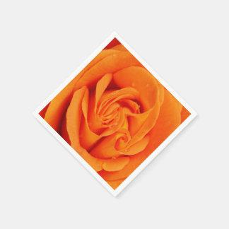 för orangero för pappra servetter retro blomma