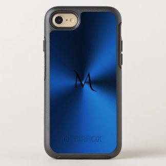 För Otterbox för djupblå Monogram metalliskt OtterBox Symmetry iPhone 7 Skal
