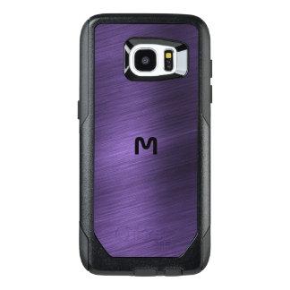 För Otterbox för purpurfärgad Monogram metalliskt OtterBox Samsung Galaxy S7 Edge Skal
