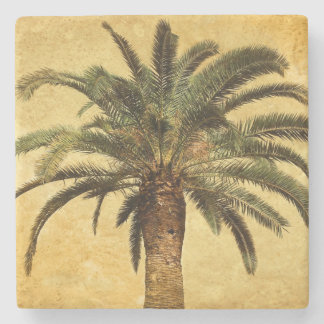 För övintage för Retro stil tropisk palmträd Underlägg Sten