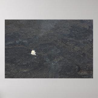 för övulkan för kilauea stort flöde för lava poster