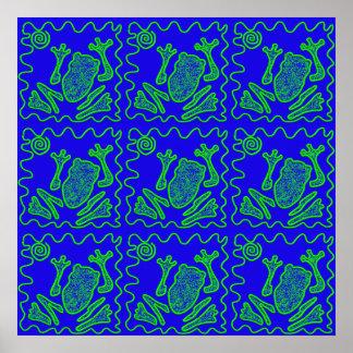 För paddaungar för skraj groda färgrika gåvor för print
