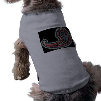 För Paisley för färgrik Retro vintage husdjur rött Hund Tshirt