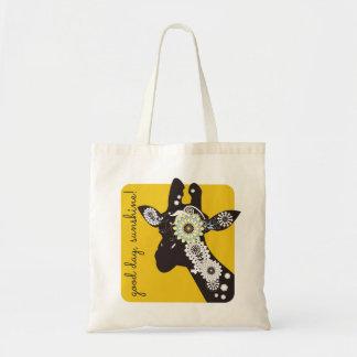 För Paisley för funky kall gult giraff Budget Tygkasse
