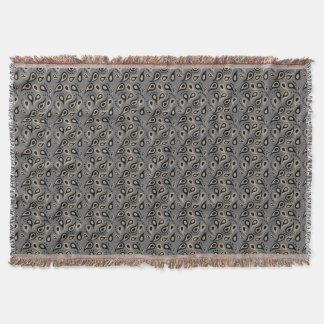 För Paisley för Taupe och för grått modern filt